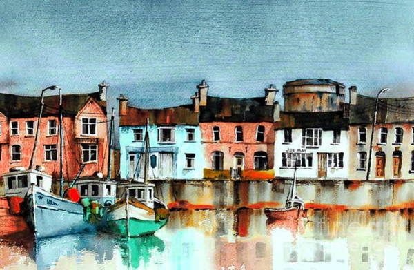 Painting - Dublin ... Skerries Harbour by Val Byrne