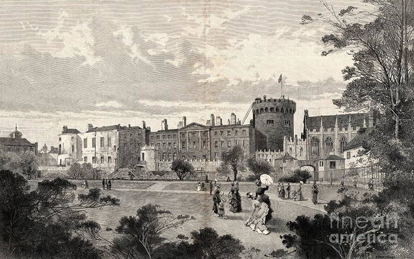Drawing - Dublin Castle  by Val Byrne