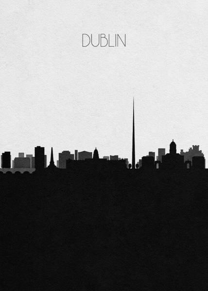 Souvenir Digital Art - Dublin Cityscape Art by Inspirowl Design