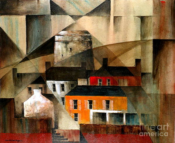 Painting - Dublin... Howth Martello Tower by Val Byrne