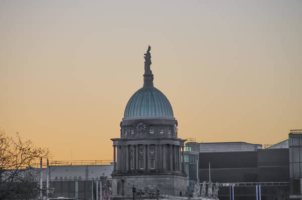 Photograph - Dublin Ireland - Custom House Dome by Bill Cannon