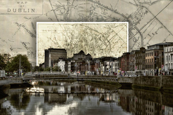 Photograph - Dublin Skyline Mapped by Sharon Popek