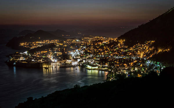 Famous Wall Art - Photograph - Dubrovnik At Night by Jaroslaw Blaminsky