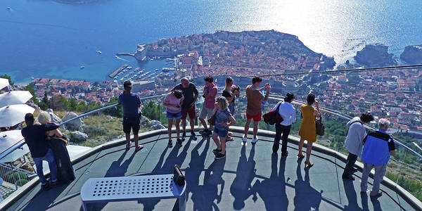 Photograph - Dubrovnik Cable Car Viewpoint by Phil Banks