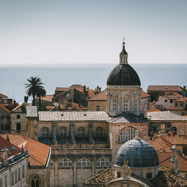 Wall Art - Photograph - Dubrovnik Cathedral Skyline by Dave Bowman