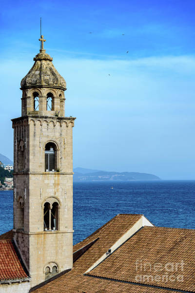 Photograph - Dubrovnik Dominican Church Tower From The City Walls, Dubrovnik Croatia by Global Light Photography - Nicole Leffer