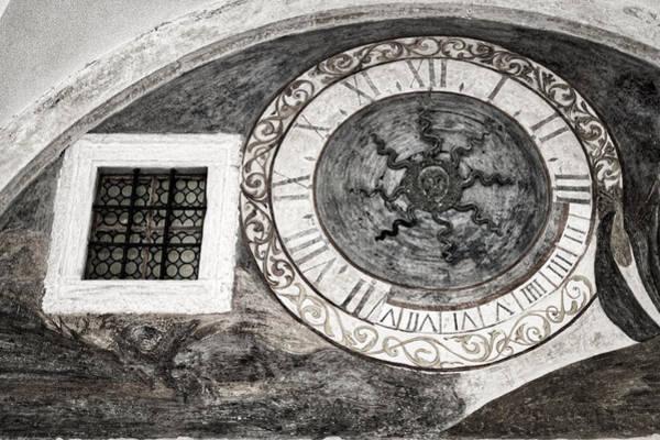 Photograph - Dubrovnik Fresco - Black And White by Stuart Litoff