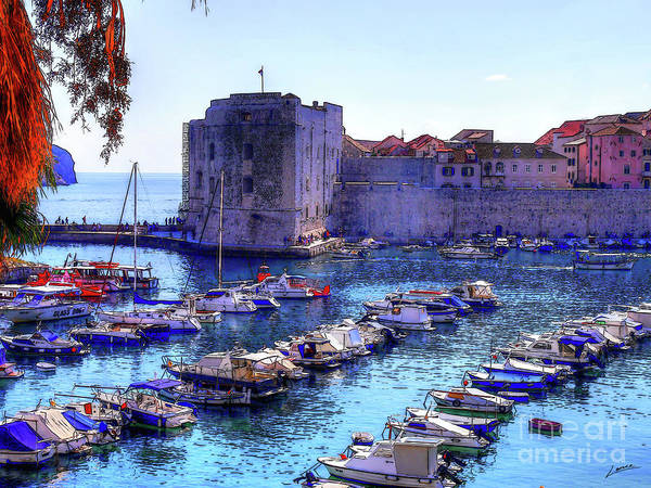 Photograph - Dubrovnik Harbour by Lance Sheridan-Peel
