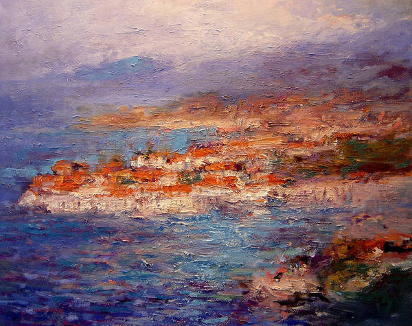 Croatia Painting - Dubrovnik In The Afternoon by R W Goetting