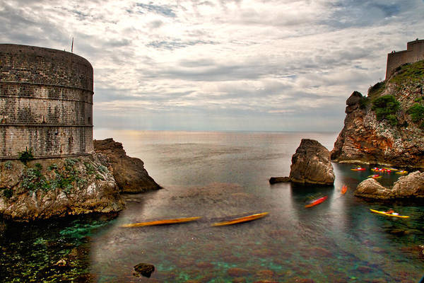 Photograph - Dubrovnik Kayakers by Stuart Litoff