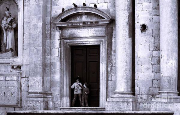 Stari Grad Photograph - Dubrovnik Little Children  by Morris Keyonzo