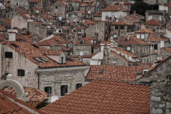 Photograph - Dubrovnik Rooftops #3 by Stuart Litoff