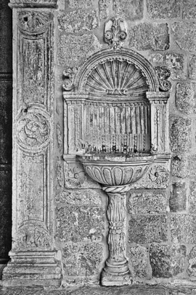 Dubrovnik Wall Art - Black And White Art Print