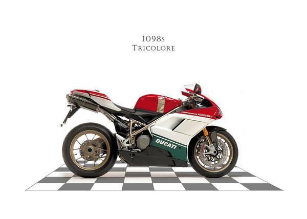 Ducati Bike Photograph - Ducati 1098s Tricolore by Mark Rogan