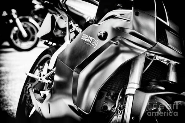 Photograph - Ducati 749 Testastretta Monochrome by Tim Gainey