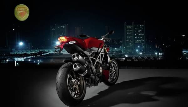 Photograph - Ducati By Moonlight by Movie Poster Prints