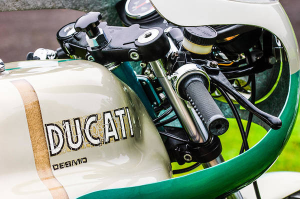 Photograph - Ducati Desmo Motorcycle -2127c by Jill Reger