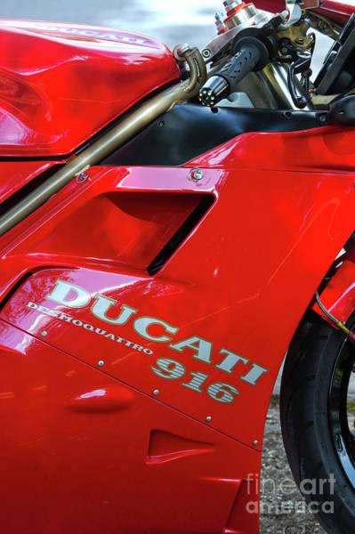 Ducati Bike Photograph - Ducati Desmoquattro 916 by Tim Gainey