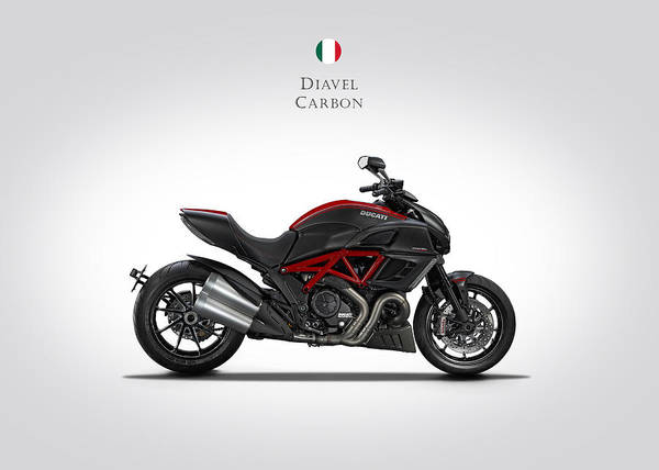 Ducati Bike Photograph - Ducati Diavel Carbon by Mark Rogan
