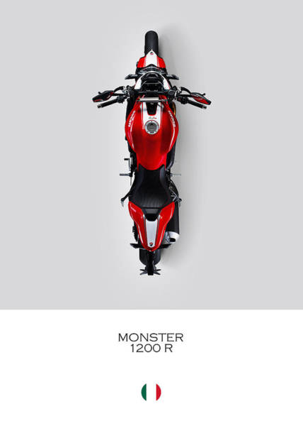 Ducati Bike Photograph - Ducati Monster 1200 R by Mark Rogan