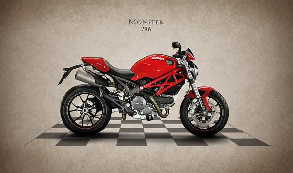 Ducati Bike Photograph - Ducati Monster 796 by Mark Rogan