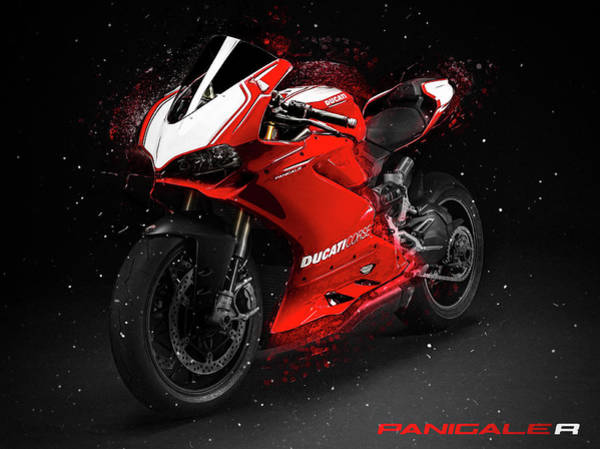 Ride Digital Art - Ducati Panigale R by Yurdaer Bes