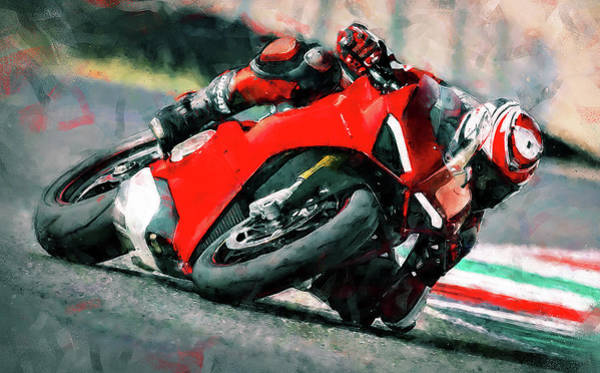 Painting - Ducati Panigale V4 - 01 by Andrea Mazzocchetti