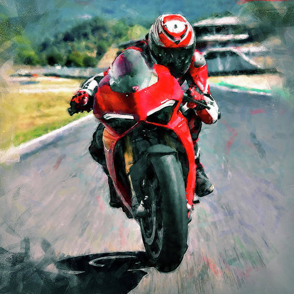 Painting - Ducati Panigale V4 - 03 by Andrea Mazzocchetti