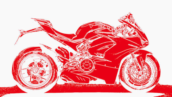Painting - Ducati Panigale V4 - 04 by Andrea Mazzocchetti