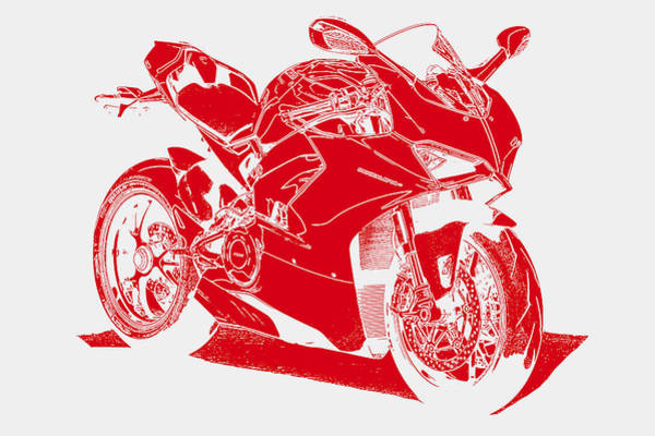 Painting - Ducati Panigale V4 - 05 by Andrea Mazzocchetti