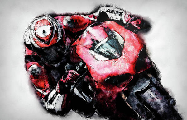 Painting - Ducati Panigale V4 - 07 by Andrea Mazzocchetti