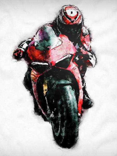 Painting - Ducati Panigale V4 - 08 by Andrea Mazzocchetti