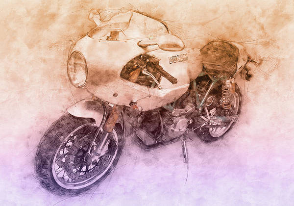 Wall Art - Mixed Media - Ducati Paulsmart 1000 Le 2 - 2006 - Motorcycle Poster - Automotive Art by Studio Grafiikka