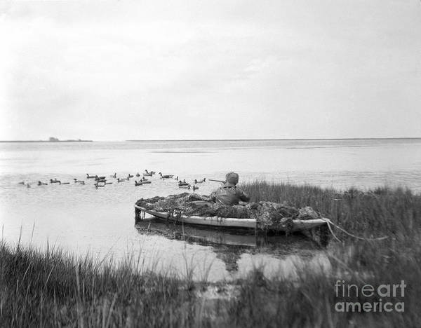 Sneak Photograph - Duck Hunting, C.1920s by H. Armstrong Roberts/ClassicStock