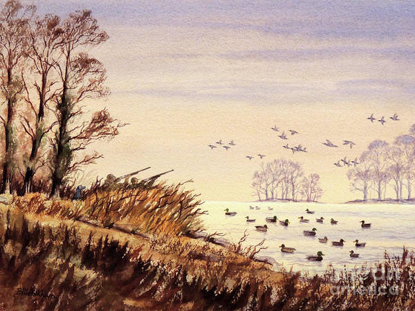 Wall Art - Painting - Duck Hunting Times by Bill Holkham
