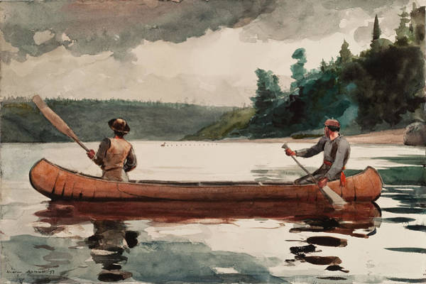 Wall Art - Painting - Duck Hunting by Winslow Homer
