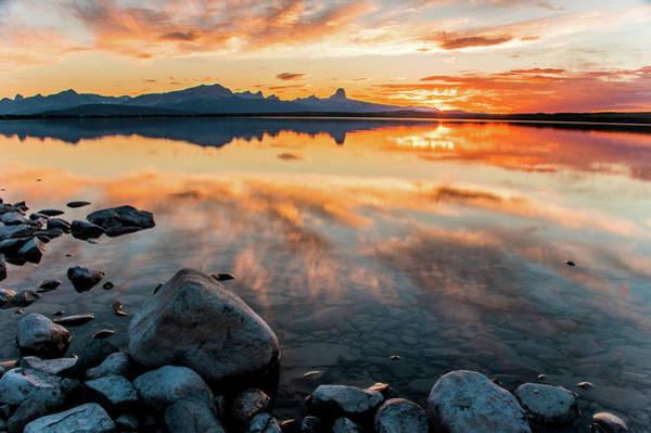 Photograph - Duck Lake Sunset by Jedediah Hohf