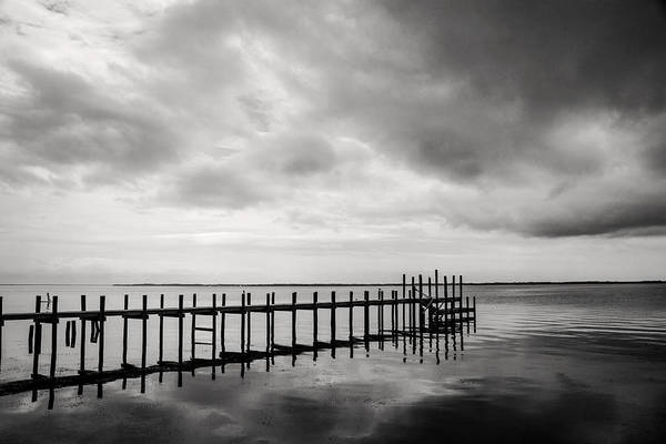 Don Johnson Photograph - Duck Pier In Black And White by Don Johnson