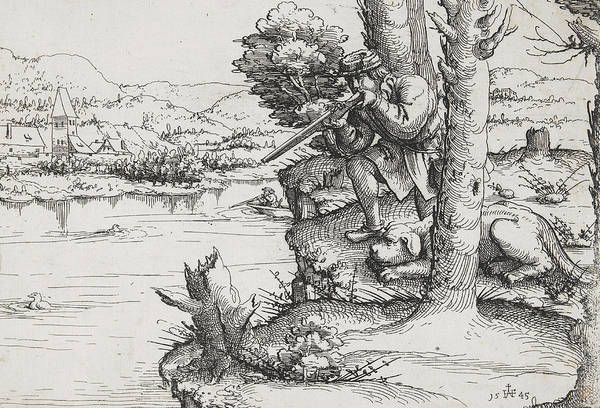 Duck Hunting Drawing - Duck Shooting With Firearms by Augustin Hirschvogel