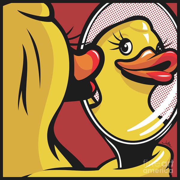 Homage Wall Art - Digital Art - Duck With Mirror by James Lee