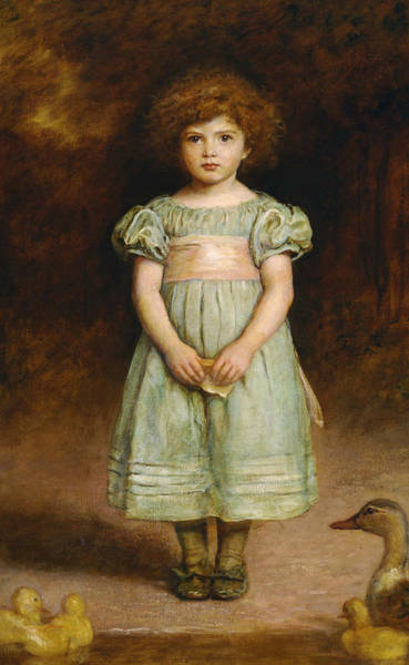 Pre-raphaelite Brotherhood Painting - Ducklings by John Everett Millais