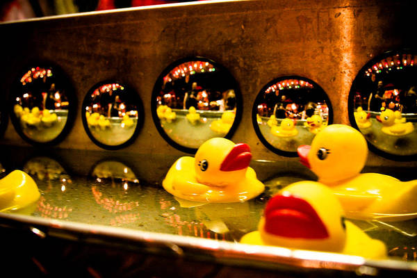 Rubber Ducky Photograph - Ducky Reflections by Toni Hopper