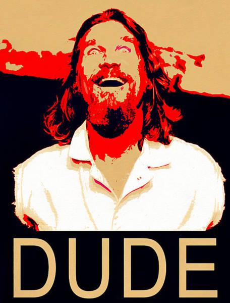 Dude Mixed Media - Dude Big Lebowski by Dan Sproul