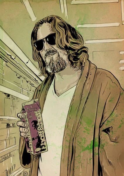 Movie Drawing - Dude Lebowski by Giuseppe Cristiano