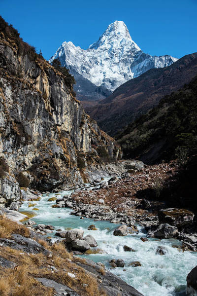 Photograph - Dudh Kosi River By Ama Dablam by Owen Weber