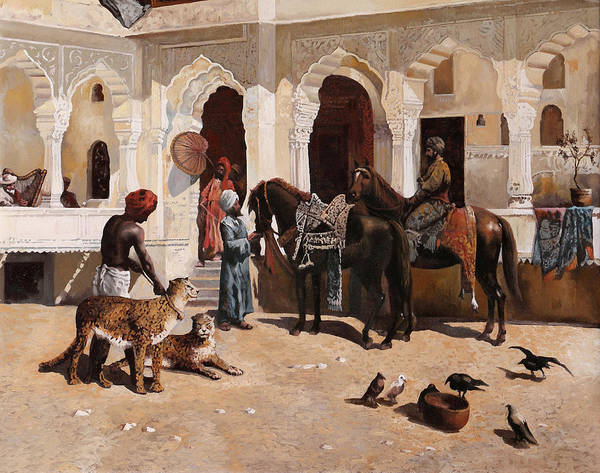 Knight Painting - Due Ghepardi by Guido Borelli