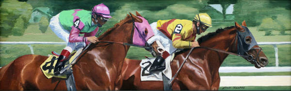 Painting - Duel by Linda Tenukas