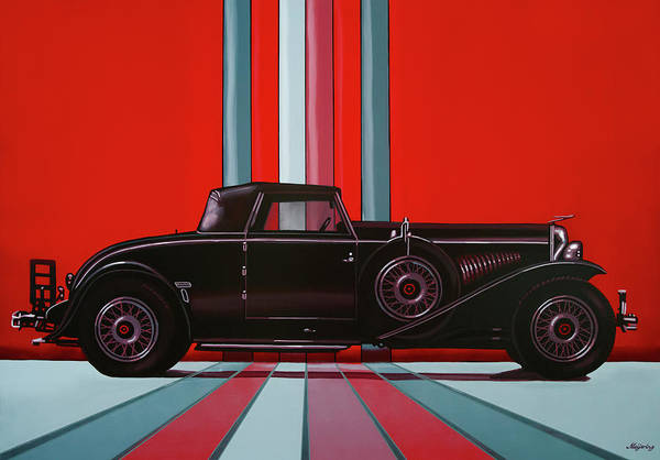Wall Art - Painting - Duesenberg Model J 1928 Painting by Paul Meijering