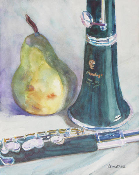 Clarinet Wall Art - Painting - Duet For A Pear by Jenny Armitage