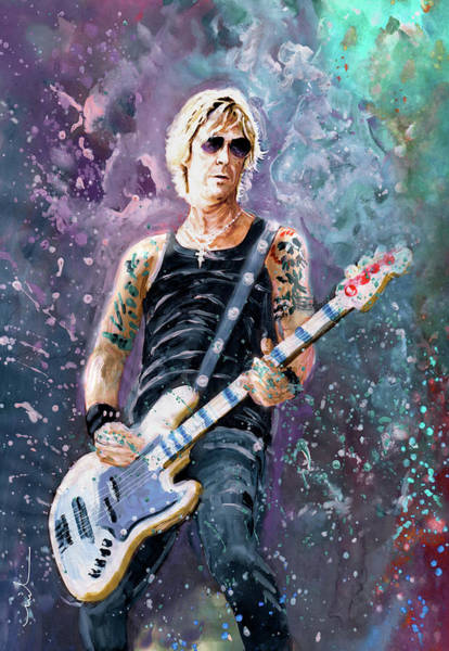 Painting - Duff Mckagan by Miki De Goodaboom